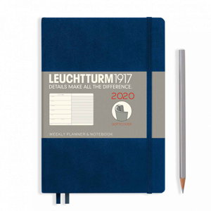 Cover art for Leuchtturm1917 2020 Weekly Softcover Planner Notebook Medium Navy