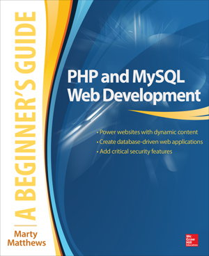 Cover art for PHP and MySQL Web Development: A Beginner's Guide
