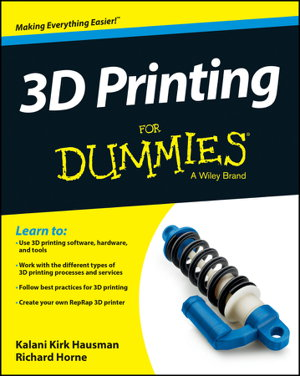 Cover art for 3D Printing For Dummies