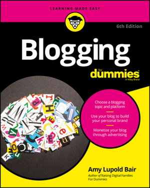 Cover art for Blogging For Dummies