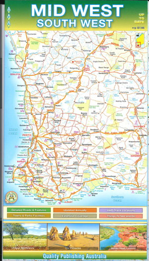 Map Of South Western Australia.Mid West And South West Western Australia Folded Map By Quality